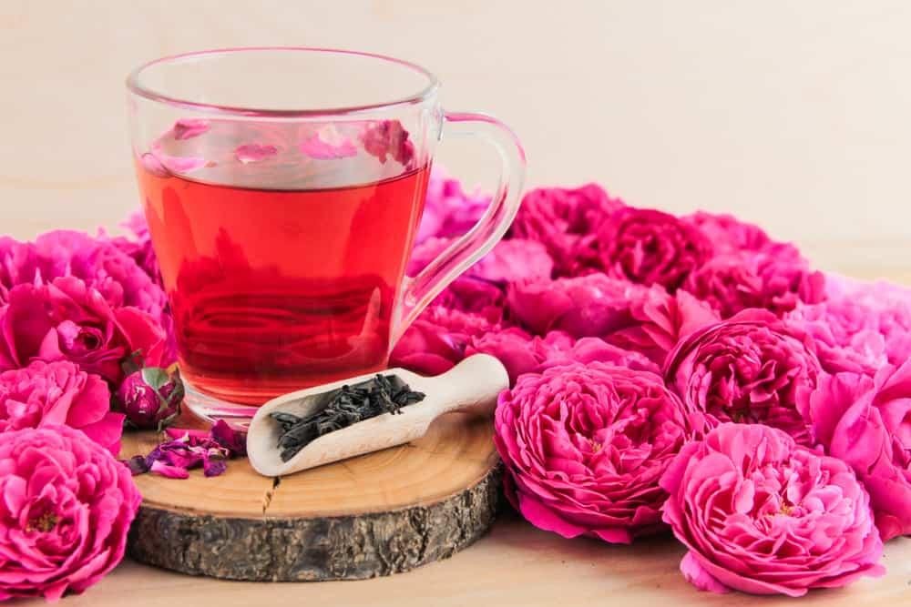 best teas for stress relief   rose tea